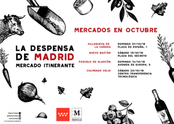 Calendario Octubre Mercado Itinerante La Despensa de Madrid